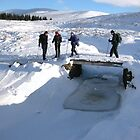 Snow covered Icy River Crossing by Braedene