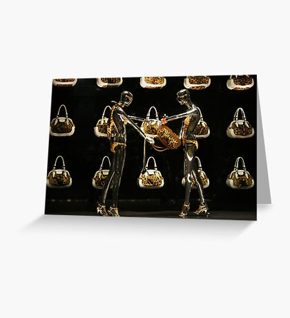 Handbags And Gladrags Greeting Card