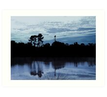 Lake Reflections  Art Print