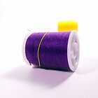 Purple and Yellow Thread Spools by Brandon Edwards