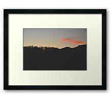 Orange Pounce Framed Print