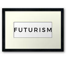 Futurism Basic Logo (Black) Framed Print