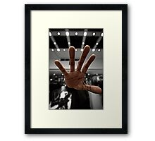 Wait..one second Framed Print