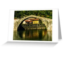 Single span of il Ponte del Diavolo, Lucca, Tuscany, Italy Greeting Card