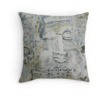 White Buddha Throw Pillow