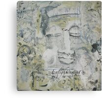 White Buddha Canvas Print