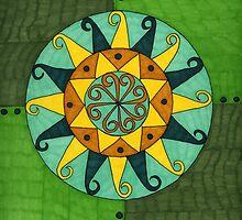yellogreen circle by lunashell