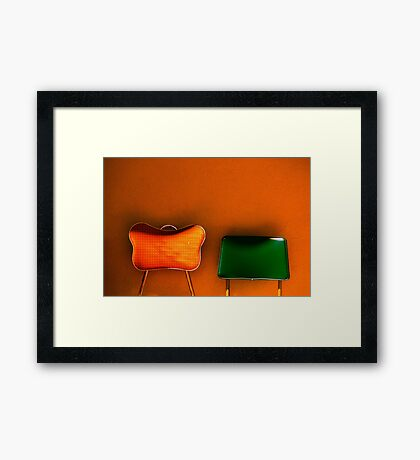 tijuana (two chairs) Framed Print