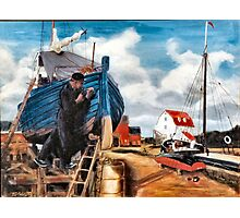 Fishing Boat Repair Photographic Print