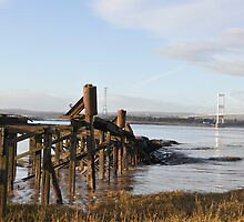 Severn Bridge..England into South Wales by Alex Hardie