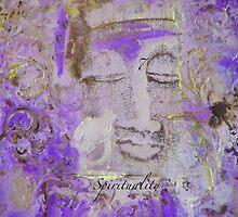 VIOLET BUDDHA #7 by Marti   Schmidt