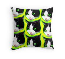 Feral Feline Throw Pillow
