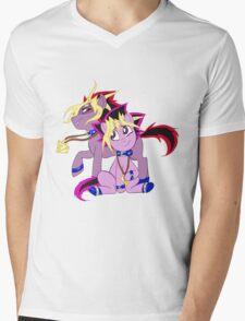 My Little Pony Yu-Gi-Oh! Mens V-Neck T-Shirt
