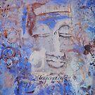 Indigo Blue Buddha #6 by Marti   Schmidt