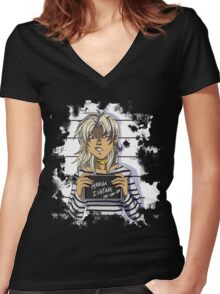 Yu-Gi-Oh! Marik Ishtar Women's Fitted V-Neck T-Shirt