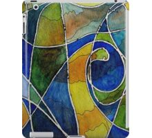 Watercolor Pen and Ink Abstract iPad Case/Skin