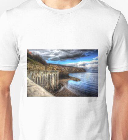 Robin hoods bay sea wall Unisex T-Shirt