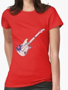 Vintage guitar Womens Fitted T-Shirt