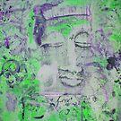 GREEN Chakra Buddha #4 by Marti   Schmidt