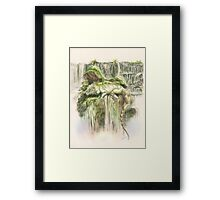 Reptilian Serenity Framed Print
