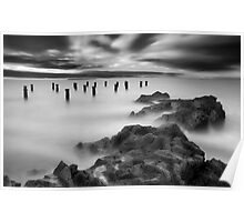 Old Pier Stumps II Poster