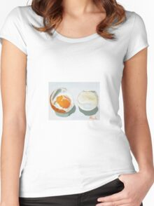 Boiled Egg! by BundyArt Women's Fitted Scoop T-Shirt