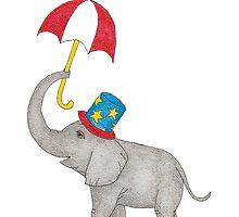 Vintage Circus Elephant by BelladonnaArt