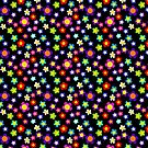 MOD Hippie Flowers, Floral Repeat Pattern by Cherie Balowski