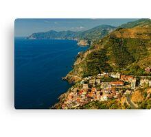 Riomaggiore, Cinque Terre, Liguria, Italy Canvas Print