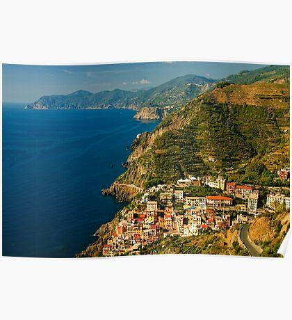 Riomaggiore, Cinque Terre, Liguria, Italy Poster