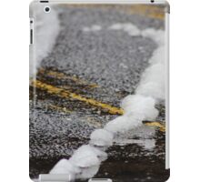 Remnants of a Spring Snow iPad Case/Skin