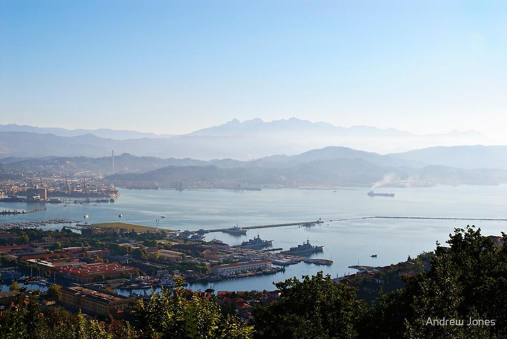 Early morning over La Spezia, Liguria, Italy by Andrew Jones