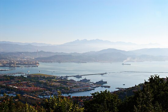 Early morning over La Spezia, Liguria, Italy by Andrew Jones