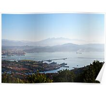 Early morning over La Spezia, Liguria, Italy Poster