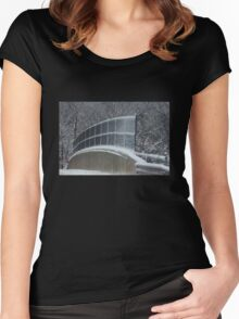 Winter Clings to Spring Women's Fitted Scoop T-Shirt