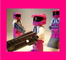 Halo Wars Pink Spartan Soldier, Custom Minifigure by Customize My Minifig