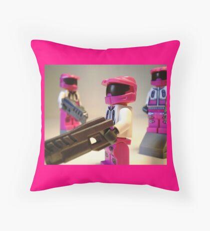 Halo Wars Pink Spartan Soldier, Custom Minifigure Throw Pillow
