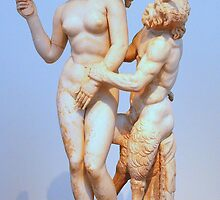 Aphrodite, Eros, and Pan by Laurel Talabere