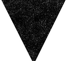 Black Starry Triangle by TwoFatPigeons