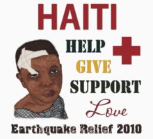 Haiti Earthquake Relief 2010 V-Neck by Linda Allan