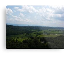 Bird's-eye view from a helicopter  Metal Print