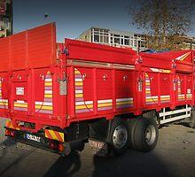 Red truck by rasim1