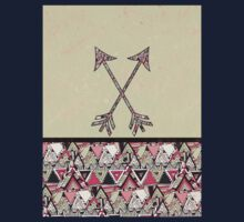 Retro Tribal Arrows Vintage Earth Aztec Pattern Kids Clothes