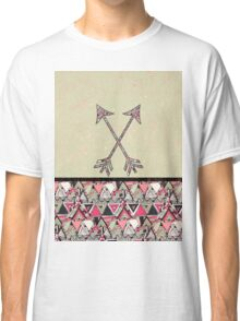 Retro Tribal Arrows Vintage Earth Aztec Pattern Classic T-Shirt