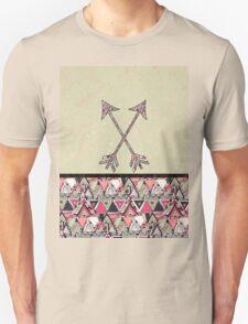 Retro Tribal Arrows Vintage Earth Aztec Pattern Unisex T-Shirt
