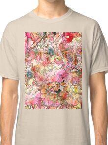 Colorful Watercolor Floral Pattern Abstract Sketch Classic T-Shirt