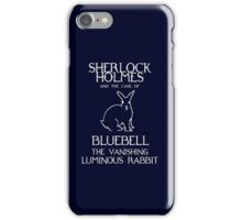 Sherlock Holmes and the case of Bluebell the vanishing luminous rabbit. iPhone Case/Skin