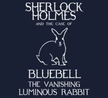 Sherlock Holmes and the case of Bluebell the vanishing luminous rabbit. One Piece - Long Sleeve