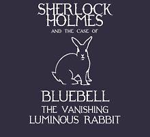 Sherlock Holmes and the case of Bluebell the vanishing luminous rabbit. T-Shirt