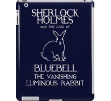 Sherlock Holmes and the case of Bluebell the vanishing luminous rabbit. iPad Case/Skin